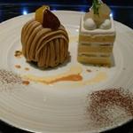 96839888 - モンブラン&洋梨のショートケーキ