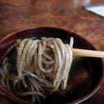 そば切り からに - 鴨汁(粗挽き)食べる