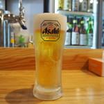 き田たけうどん - 生ビール