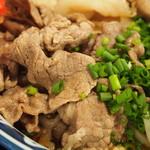 き田たけうどん - 炙り牛トンぶっかけ(牛肉)