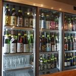 き田たけうどん - 冷蔵庫には地酒が一杯!!