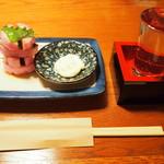 うどん・鍋 鰹さん - かまぼこバター & 冷酒(東一)