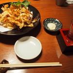 うどん・鍋 鰹さん - するめ天 & 冷酒