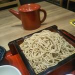 蘭免ん - 麺の量少ない 蕎麦湯は先出し すっかり冷めました