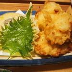 僕とうどんと鰹出汁 鰹さん - 鶏天ぶっかけ(天ぷら)