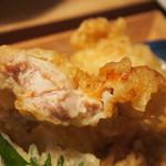 うどん・鍋 鰹さん - 鶏天ぶっかけ(鶏天)