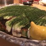 鉄板居酒屋OHANA - 料理写真:裏メニューのお好み焼きキャ○コ玉‼️