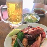 綾城 - 上焼肉定食 & 生ビール♪