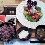オンザスクエア  - 11月限定一汁六菜プレート(黒豚と金針菜のホワイトバルサミコ酢豚)