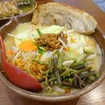 麺場 田所商店 - 料理写真:信州味噌の野菜ラーメン+ 炙りチャーシュ1