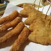 やけっ八 - 料理写真:串揚げ エビ キス