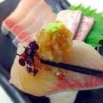ひょうたん池 - 天然ブリ刺身