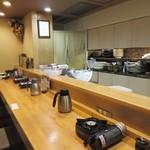 すき焼き・しゃぶしゃぶ・懐石料理 小豆 - 店内カウンター