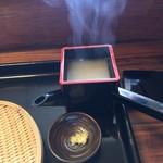 平尾台蕎麦処 えん - 蓋を開けて。