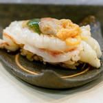 寿司栄 - えびとばちことみそ