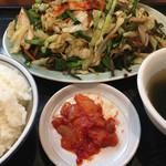 萬力亭 - 2018年11月18日  ニラ豚定食