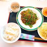 ブラックバッカラ - 青椒肉絲ランチ、700円