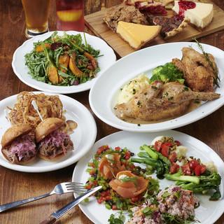 手作りと素材にこだわった伝統的アメリカ料理をご堪能下さい。