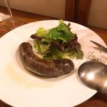 オステリア イマムラ - 鹿と猪のミックスサルシッチャ