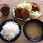 やまびこ支店 - メンチカツ定食