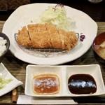 とんかつ 真 - ロースカツ定食(120g)