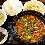 Rinsen - 四川麻婆豆腐定食 850円