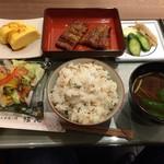 炭火焼き鰻 堀忠 - H.30.11.12.昼 ランチセット ミニ 1,500円税別