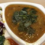 リコ カリー - 日替わり「チキンと豆と焼き茄子のインド風マサラカレー」