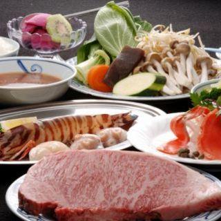 極上肉を存分に味わえるディナーコースをご用意しております