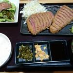 牛かつ ぎゅう太 - 和牛&アンガス牛 食べ比べ定食