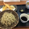 雄岳 - 料理写真:十割(粗びき) 1,000円、天ぷら えび2尾、野菜3種 500円