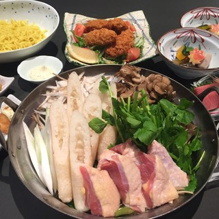 鍋宴会コース4000円(税別)~比内地鶏のきりたんぽ鍋~」