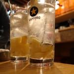 牛タンいろ葉 - 塩レモンサワー490円