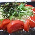 てっぱん食堂 - トマトと豆腐のサラダ。