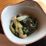 ママのごはん - 小松菜と油揚げの煮浸し