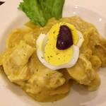 ワンチャコ - 鶏の唐辛子クリームソース
