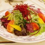 クイーンシーバ エチオピアレストラン - サラダ