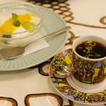 クイーンシーバ エチオピアレストラン - エチオピアンモカコーヒー、デザート