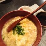 禅紫 - ぶりシャブ鍋の後の雑炊