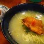 96961681 - 水炊きラーメン700円+地卵100円