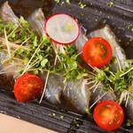 炭焼とワイン 円山すだち - 旬魚のカルパッチョ