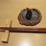 つきじ 文化人 - サービスの「そば味噌」