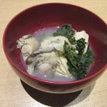 つきじ 文化人 - 「牡蠣酒蒸し」