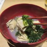 つきじ 文化人 - 牡蠣の美味さが凝縮