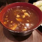 96981750 - 麻婆豆腐  さらさらタイプたが、辛さはあります!