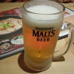やきとり 釜飯 はん - 家路に着く前にきゅ~っと冷えた生ビール~(モルツ)