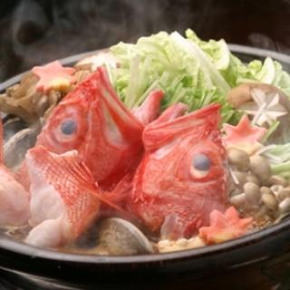 オススメ!キンキの豪華海鮮塩ちゃんこ鍋
