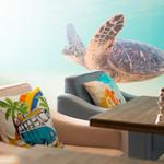 ハワイアン リラックス カフェ リノマーリエ - 料理写真:幸運を呼ぶ海ガメがお出迎え♪