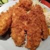 八重洲 とよだ - 料理写真:カキフライ定食+カニクリームコロッケ ここのカキフライ最高っ!my best カキフライ♥️