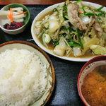 9701610 - 野菜炒め定食750円